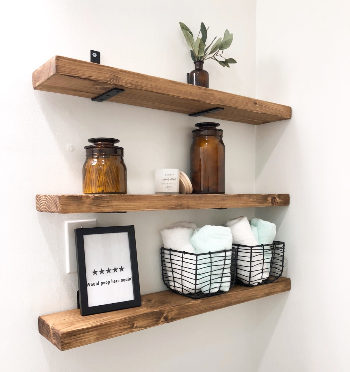 DIY Bathroom Shelves Tutorial